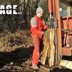 Fendre du bois grâce à l'hydraulique du tracteur – 2018